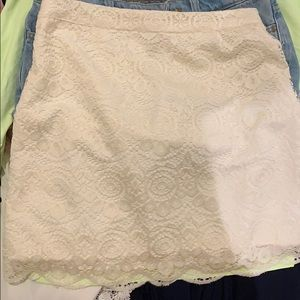 White Hollister Lace Skirt